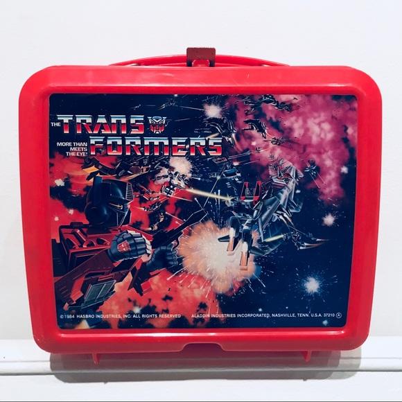 c6f4b8c19f89 Original 1984 Vintage TRANSFORMERS Lunch Box
